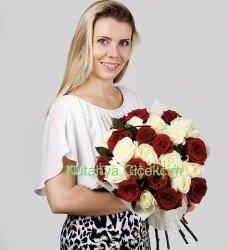 Kırmızı-Beyaz Güller